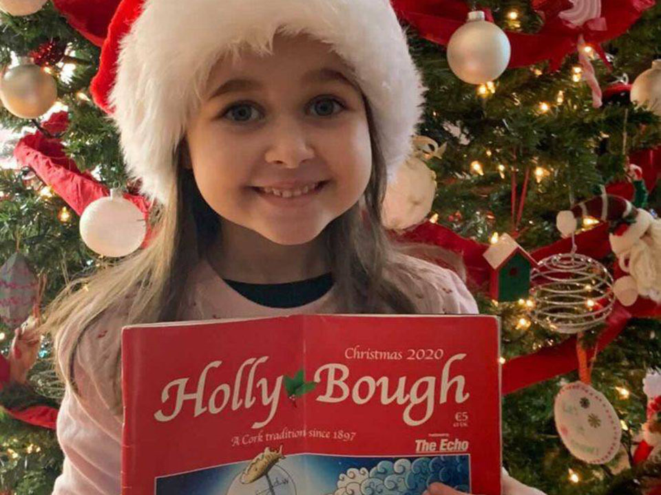 Reagan O'Sullivan, 7, at home in Los Angeles, California, USA. Her dad Willie is from Mayfield, Cork