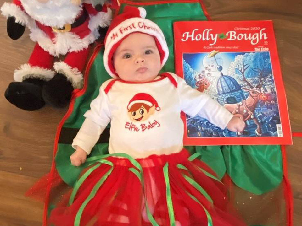 Aria Healy, of Ballyvolane, enjoying her first Christmas with the Holly Bough