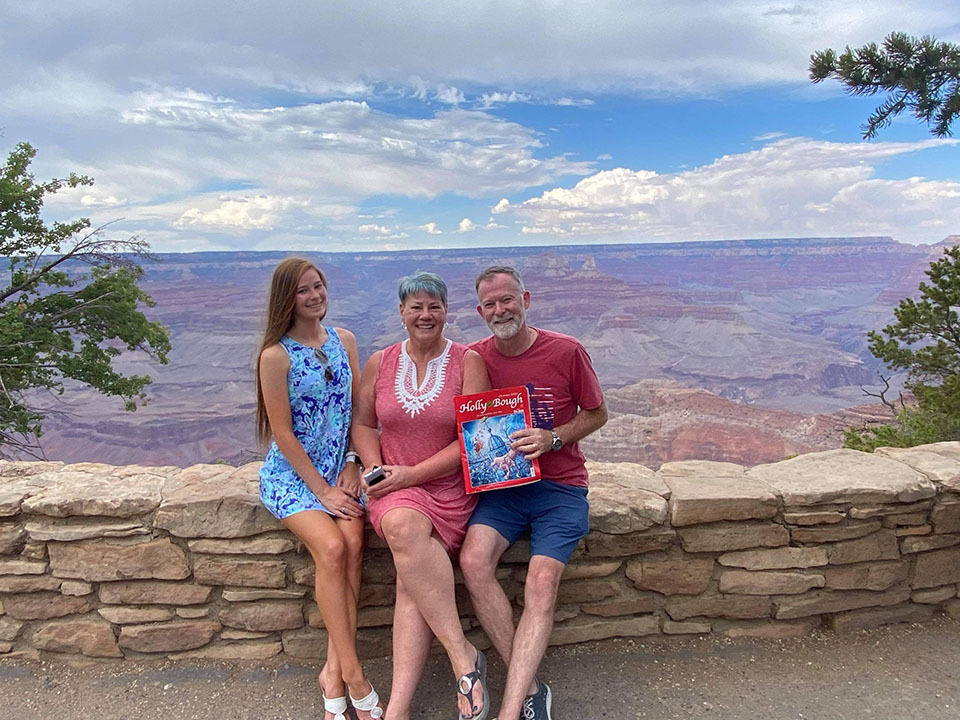 Stuart Manning, formally of Ballyvolane, now living in Woodstock, Virginia, with wife Michelle and daughter Eve, at the Grand Canyon, Arizona, USA