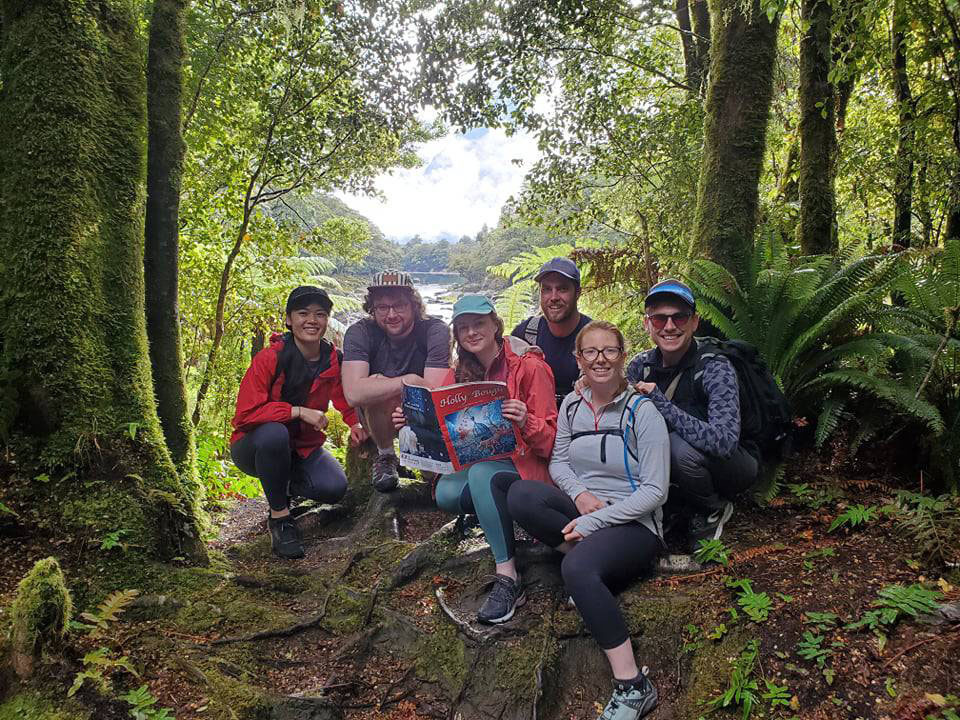 Hiking around the Milford Track on New Zealand's South Island last Christmas, from left, Monica Yee, of Christchurch, New Zealand, Sam Cadogan, of Inniscarra, Fionnuala Murphy, of Ballincollig, Patrick O'Kelly-Lynch, of Frankfield, Cork, Lorcan O'Hara, of Thurles, Tipperary, and Megan Eastes, of Kent, England